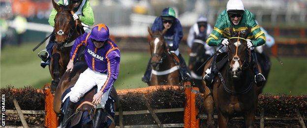 Ruby Walsh suffers a fall at Aintree