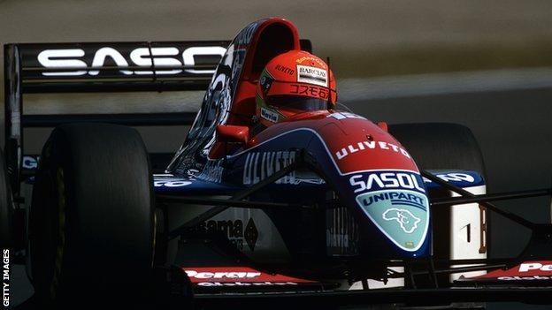 Eddie Irvine in the 1993 Japanese Grand Prix
