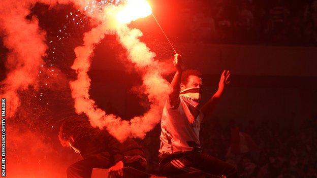 Zamalek fans celebrate