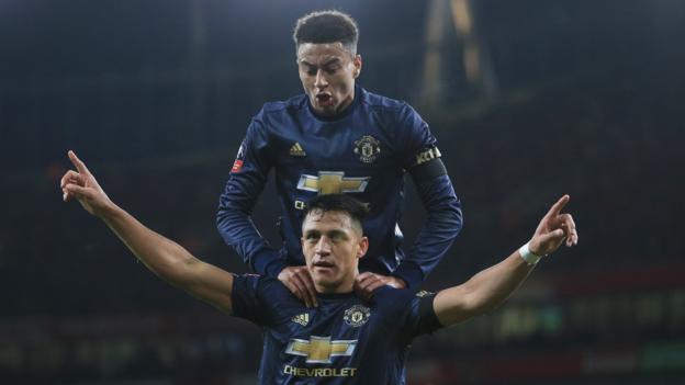 Arsenal 1-3 Manchester United in FA Cup fourth round - BBC Sport 5e61fc66e