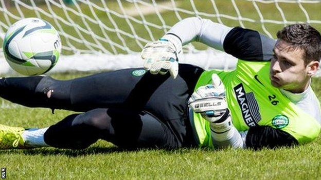 Craig Gordon in training for Celtic