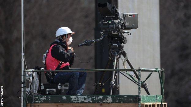 A cameraman in Japan