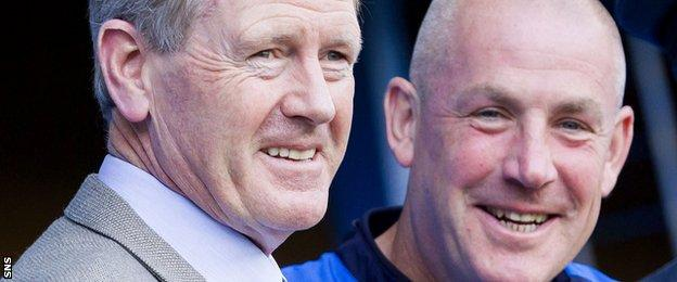 Rangers chairman Dave King and manager Mark Warburton