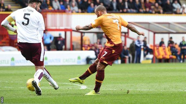 Lionel Ainsworth fires home for Motherwell