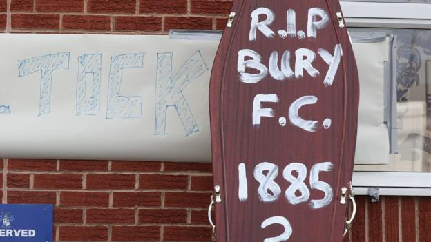 Bury FC: English Football League says 'limited progress' made in survival bid