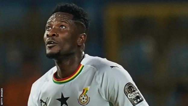 Asamoah Gyan in action for Ghana