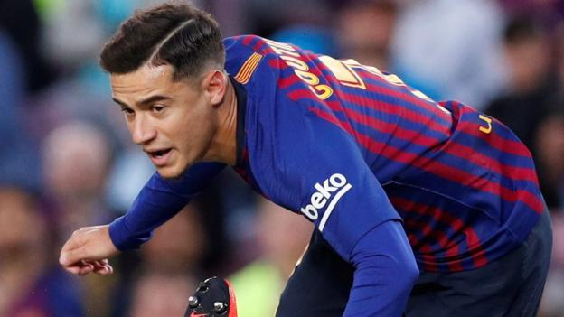 Barcelona 3-1 Rayo Vallecano  Philippe Coutinho backed by Gerard Pique  after jeers - BBC Sport 56c48349a94