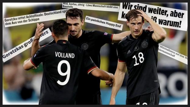 German players react to 2-2 draw with Hungary