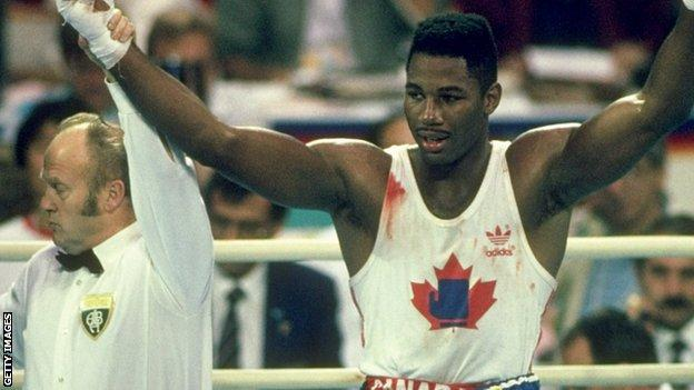 Lennox Lewis at the Seoul Olympics