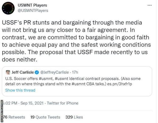 Tweet from @USWNT