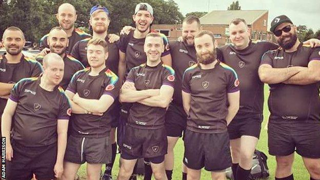 Alphas at their first 'Touch My Brum' touch rugby tournament