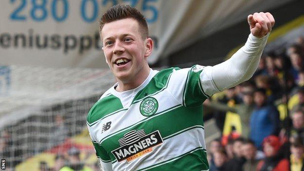 Callum McGregor celebrates with Celtic