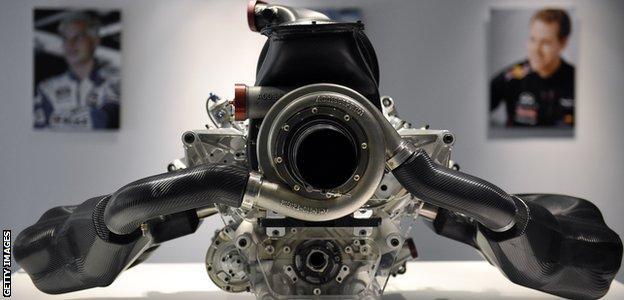 Renault F1 hybrid engine