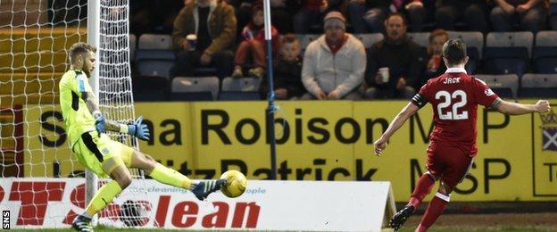 Aberdeen skipper Ryan Jack produced a fine finish to make it 5-0