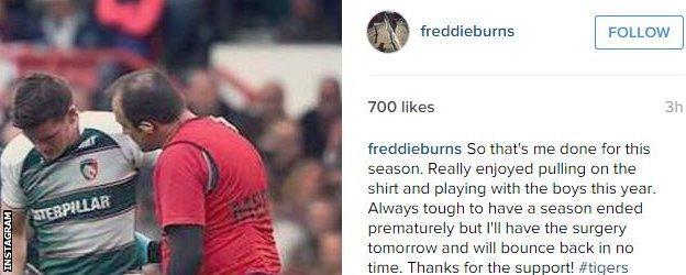 Freddie Burns' post on Instagram