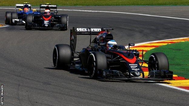 Fernando Alonso and Jenson Button at the Italian Grand Prix