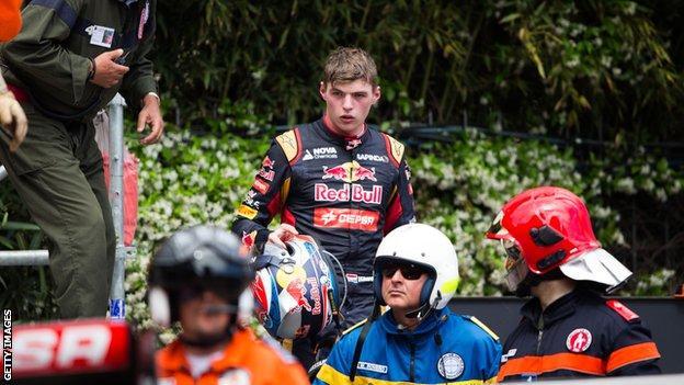 verstappen monaco crash