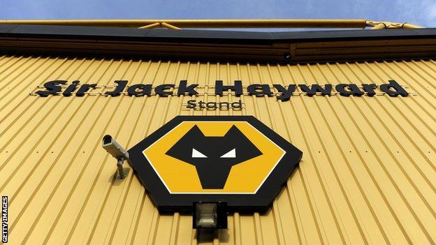 Sir Jack Hayward stand at Wolves' Molineux stadium