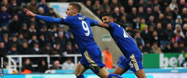 Jamie Vardy and Riyad Mahrez