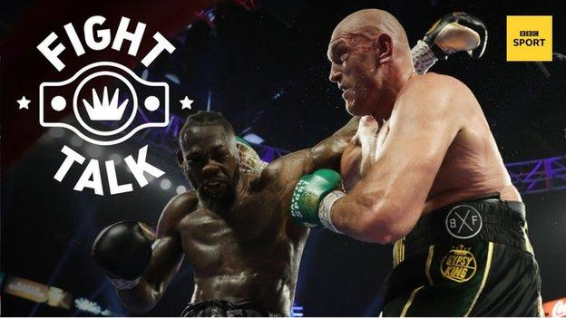 American heavyweight Deontay Wilder and Britain's Tyson Fury during their second fight at Las Vegas in February 2020