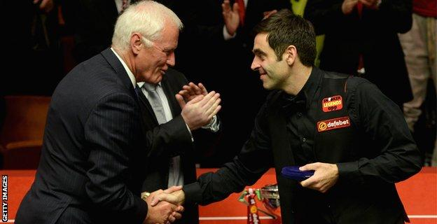 Barry Hearn (left) and Ronnie O'Sullivan