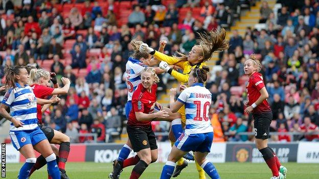Manchester United Women take on Reading