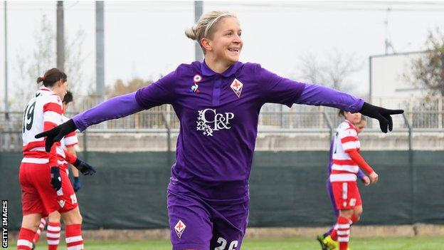 Lana Clelland plays her club football with Fiorentina in Italy