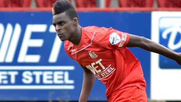 What an impact - Ports substitute Marcio Soares scores 28 seconds after coming on to secure a 3-3 draw with the Swifts