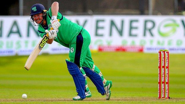 Paul Stirling is leading by example with the bat for Ireland