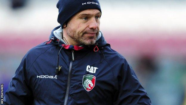 Leicester Tigers director of Rugby Richard Cockerill