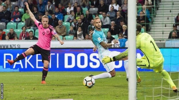 Leigh Griffiths opened the scoring for Scotland but the visitors could not find the win they needed
