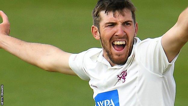 Somerset seam bowler Craig Overton