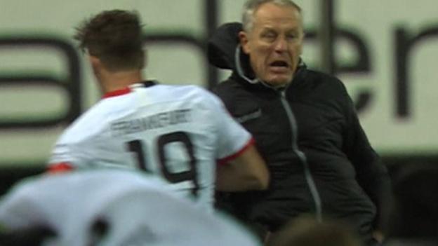 David Abraham: Frankfurt captain banned for barging opposition manager