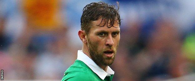 The Republic of Ireland's Ipswich striker Daryl Murphy