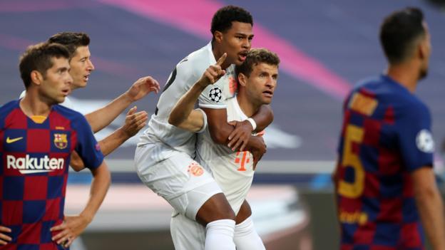 Bayern Munich 8-2 Barcelona: Brilliant Bayern smash Barca to reach Champions League semis