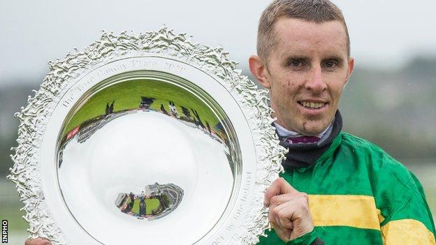 Jockey Mark Walsh clinched victory aboard Early Doors in Galway