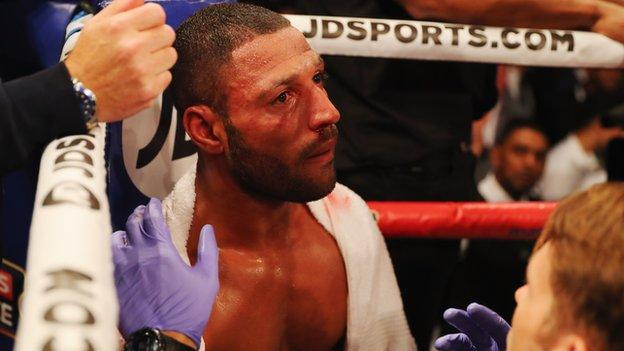 Kell Brook was stopped in the fifth round by Gennady Golovkin
