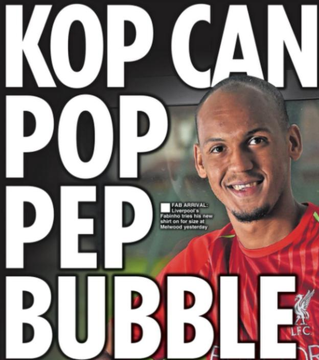 Back page of the Daily Star