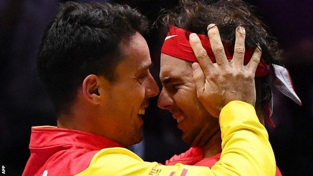 Rafael Nadal and Roberto Bautista Agut