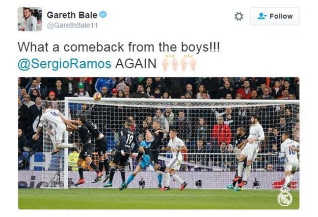 Gareth Bale hails Real Madrid win
