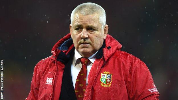 Warren Gatland has been on three British and Irish Lions tours as a coach