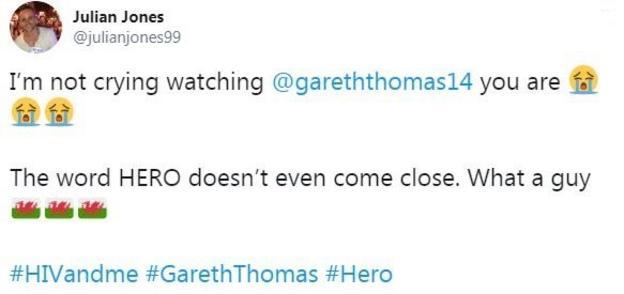 Gareth Thomas filmed a documentary HIV and Me