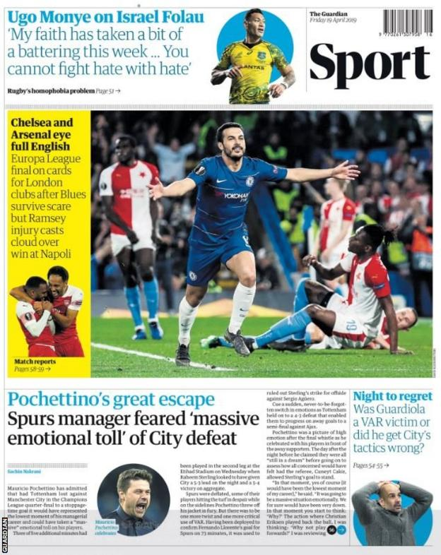 Friday's Guardian back page