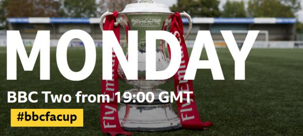 The FA Cup draw is on BBC Two on Monday 6 November from 1900 GMT