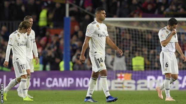 Real Madrid loss against Barcelona
