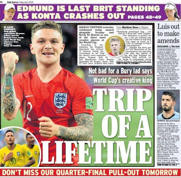 Express back page on Friday