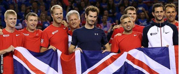 Great Britain celebrate