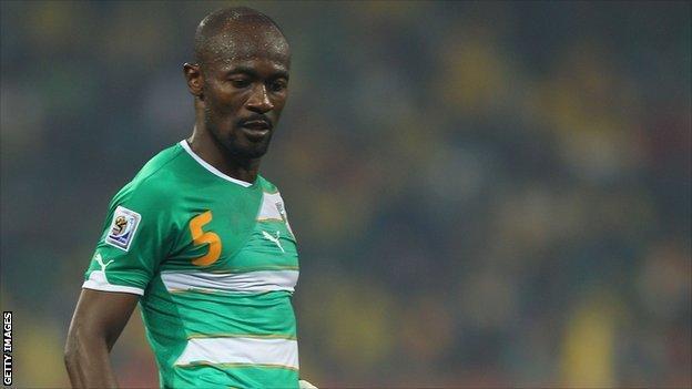 Ivory Coast and Trabzonspor's Didier Zokora