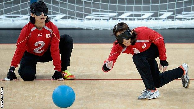 China goalball team