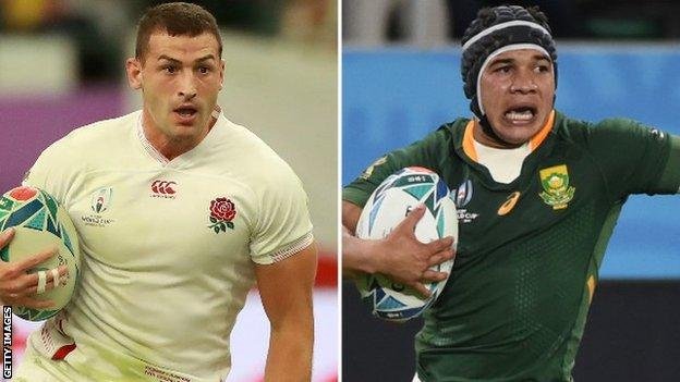 Jonny May and Cheslin Kolbe